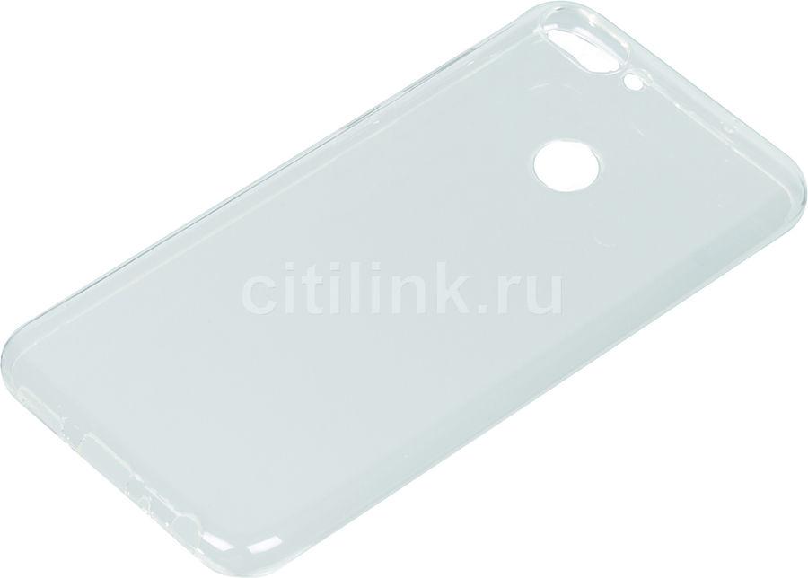 Чехол (клип-кейс) DF hwCase-46, для Huawei P Smart, прозрачный