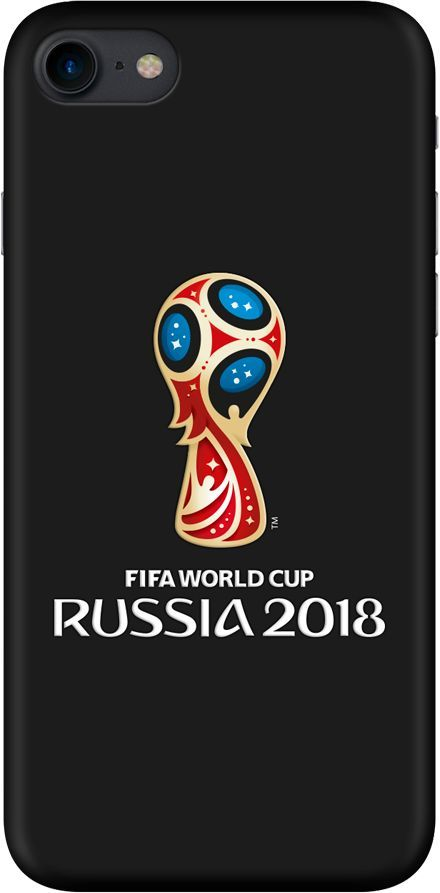 Чехол (клип-кейс) DEPPA FIFA Official Emblem, для Apple iPhone 7/8, черный [103892] apple чехол клип кейс apple для apple iphone 7 mmy52zm a черный