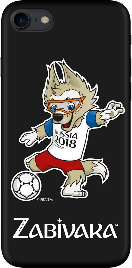 Чехол (клип-кейс) DEPPA FIFA Zabivaka_2, для Apple iPhone 7/8, черный [103899] apple чехол клип кейс apple для apple iphone 7 mmy52zm a черный