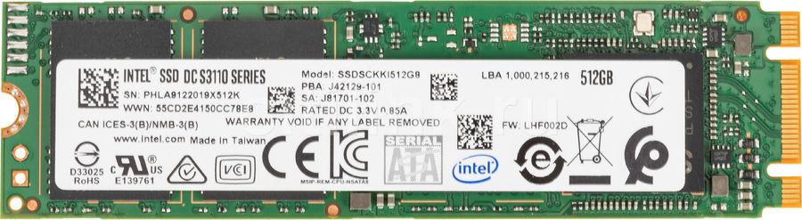 SSD накопитель INTEL DC S3110 SSDSCKKI512G801 512Гб, M.2 2280, SATA III [ssdsckki512g801 963857]