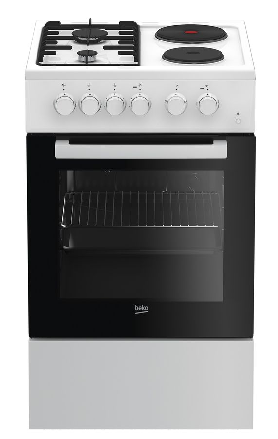 Электрическая плита BEKO FSS 54010 DW,  эмаль,  белый