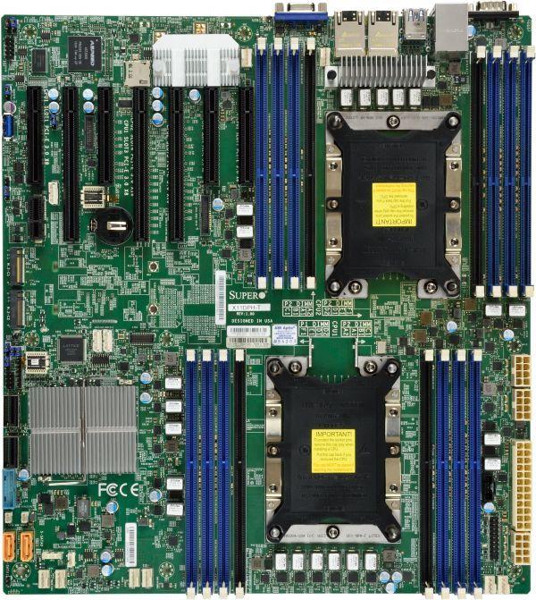 Серверная материнская плата SUPERMICRO MBD-X11DPH-I-O,  Ret