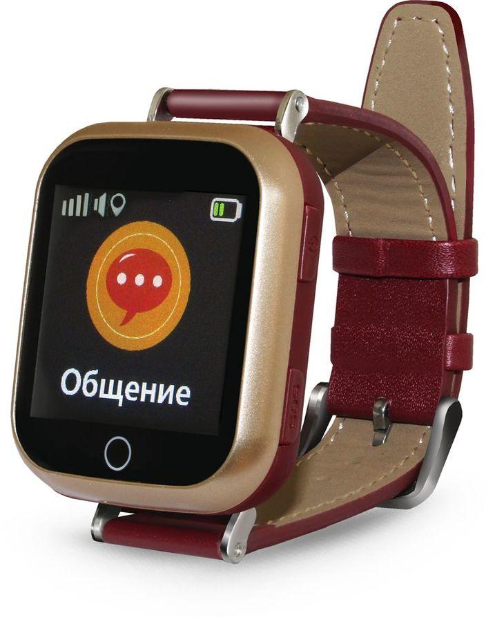 "Смарт-часы GINZZU GZ-521,  1.44"",  коричневый / коричневый [00-00001096]"