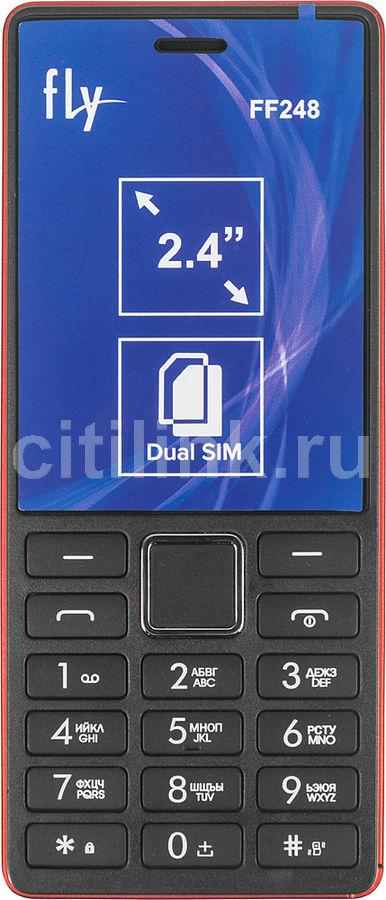 Мобильный телефон FLY FF248,  красный