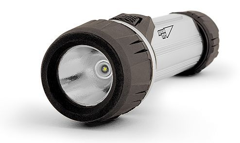 Универсальный фонарь ЯРКИЙ ЛУЧ S-110 SilverLine, серебристый  / черный