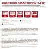 "Ноутбук PRESTIGIO SmartBook 141C, 14.1"",  IPS, Intel  Atom X5  Z8350 1.44ГГц, 2Гб, 32Гб eMMC,  Intel HD Graphics  400, Windows 10 Home, PSB141C01BFH_DB_CIS,  темно-синий вид 18"