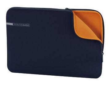 """Чехол для ноутбука 13.3"""" HAMA Neoprene, синий/оранжевый [00101553]"""
