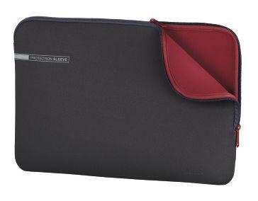 "Чехол для ноутбука 15.6"" HAMA Neoprene, серый/красный [00101550]"