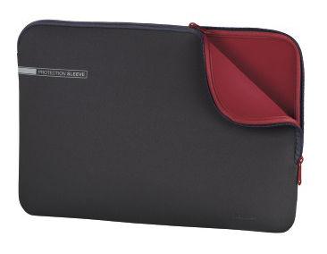 "Чехол для ноутбука 13.3"" HAMA Neoprene, серый/красный [00101549]"