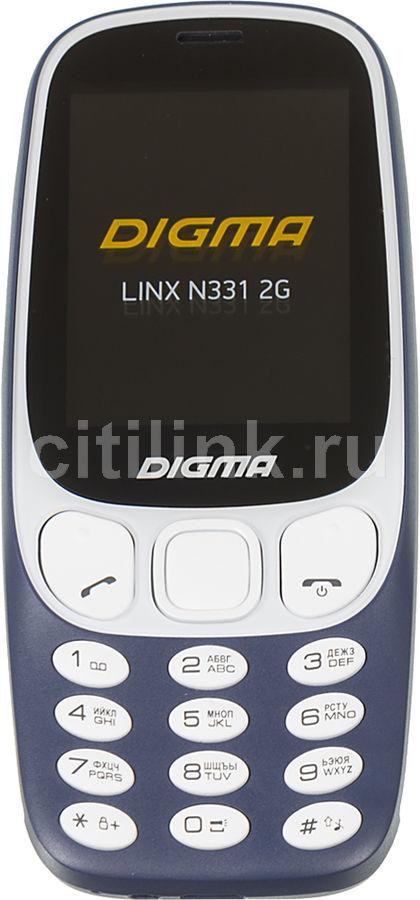 Мобильный телефон DIGMA Linx N331 2G,  темно-синий
