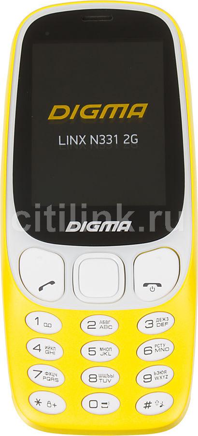 Мобильный телефон DIGMA Linx N331 2G,  желтый