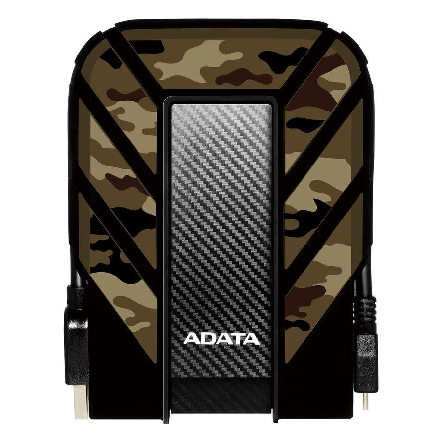 Внешний жесткий диск A-DATA DashDrive Durable HD710M Pro, 2Тб, черный/зеленый [ahd710mp-2tu31-ccf]