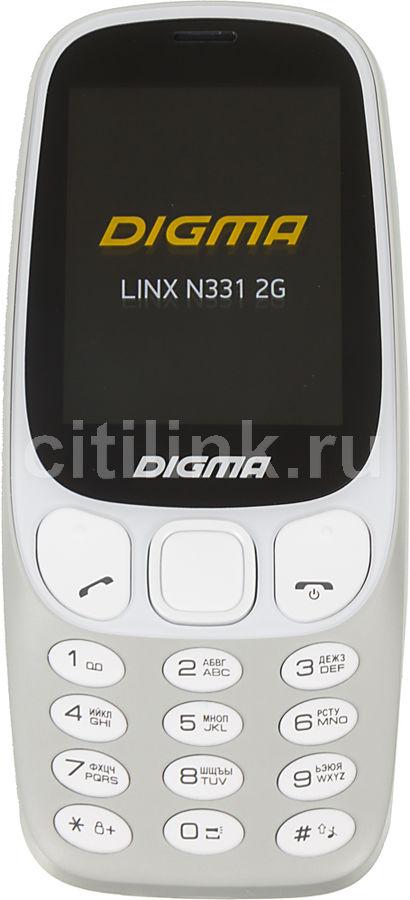 Мобильный телефон DIGMA Linx N331 2G,  серый
