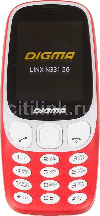 Мобильный телефон DIGMA Linx N331 2G,  красный
