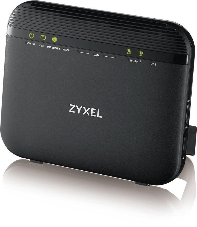 Беспроводной роутер ZYXEL VMG3625-T20A,  ADSL 2/2+,  черный [vmg3625-t20a-eu01v1f]