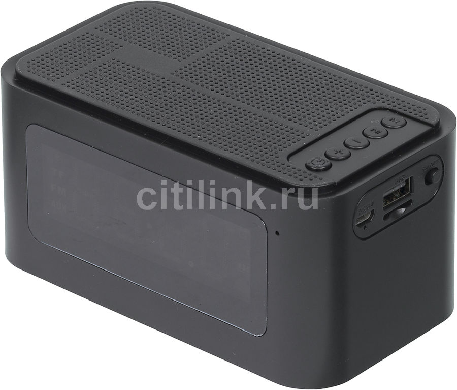 Портативная колонка GINZZU GM-881B, 3Вт, черный hyperps bluetooth wireless mini portable super bass speaker with built in mp3 player supporting to play from micro sd card usb thumb drive