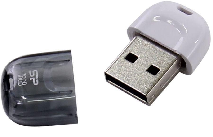 Флешка USB SILICON POWER Touch T09 16Гб, USB2.0, белый [sp016gbuf2t09v1w]