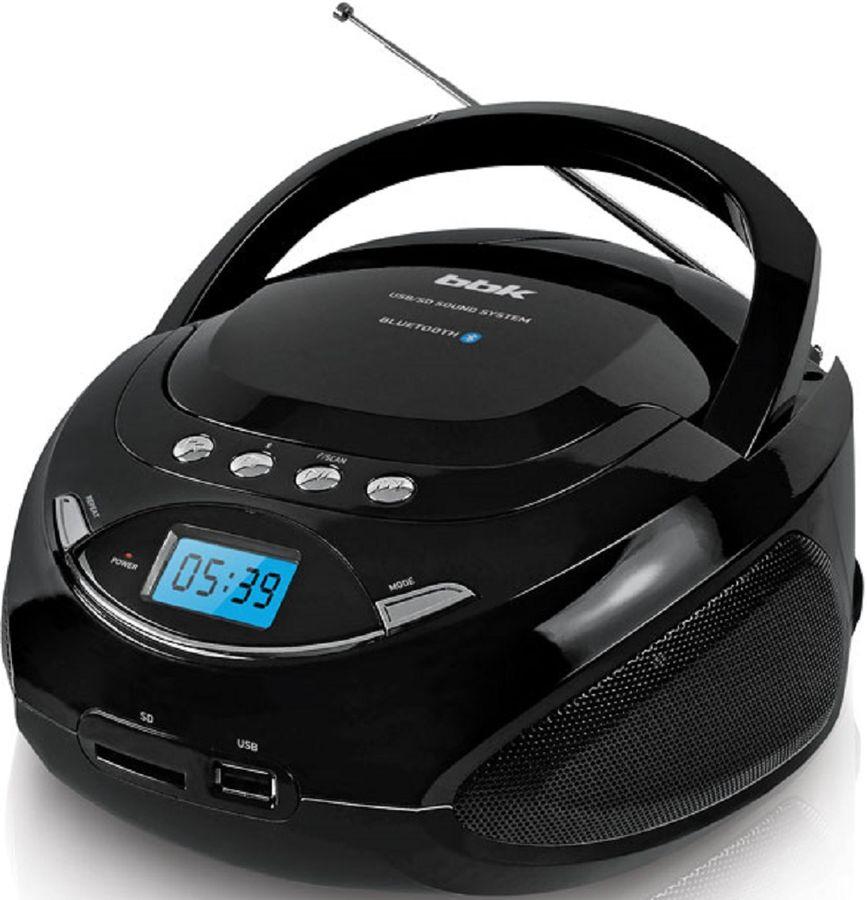 Аудиомагнитола BBK BS09BT,  черный