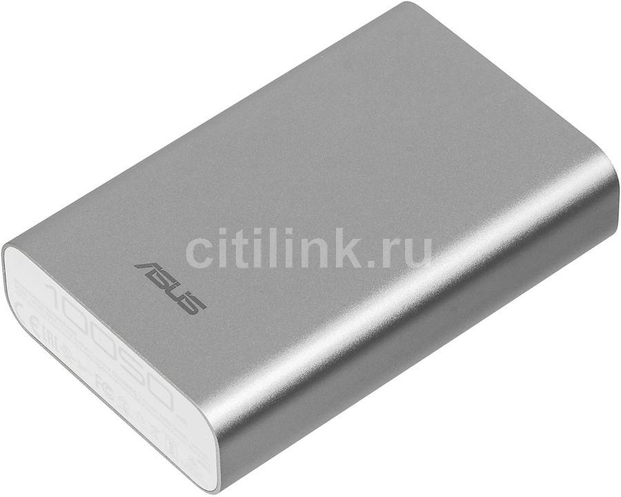 Внешний аккумулятор (Power Bank) ASUS ZenPower ABTU012,  10050мAч,  серебристый [90ac02v0-bbt008]