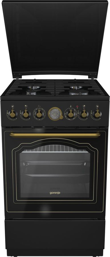Газовая плита GORENJE K52CLB,  электрическая духовка,  антрацит