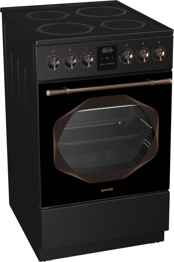 Электрическая плита GORENJE EC53INB,  стеклокерамика,  черный