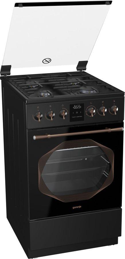Газовая плита GORENJE GI53INB,  газовая духовка,  черный