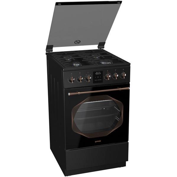 Газовая плита GORENJE K53INB,  электрическая духовка,  черный
