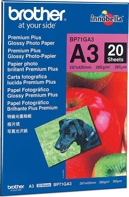 Фотобумага Brother BP71GA3 A3/260г/м2/20л./белый глянцевое для струйной печати