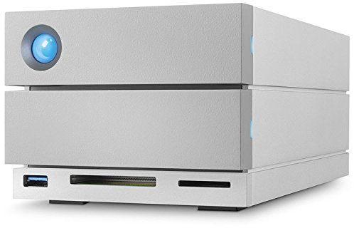 Внешний жесткий диск LACIE 2big Dock STGB8000400, 8Тб, серебристый