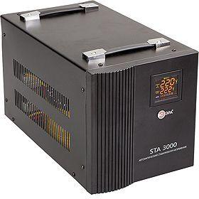 Стабилизатор напряжения ЭРА STA-3000,  черный [c0036573]