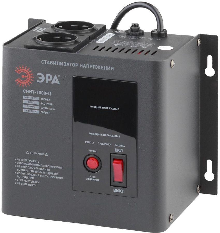 Стабилизатор напряжения ЭРА СННТ-1000-Ц,  черный [б0020166]