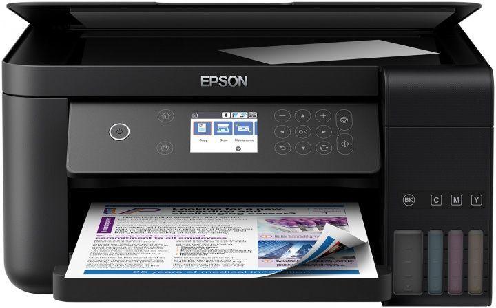МФУ струйный EPSON L6160, A4, цветной, струйный, черный [c11cg21404]