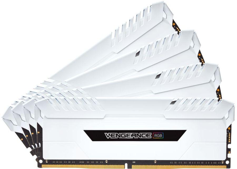 Модуль памяти CORSAIR Vengeance RGB CMR32GX4M4C3000C15W DDR4 -  4x 8Гб 3000, DIMM,  Ret