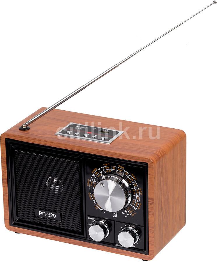 Радиоприемник СИГНАЛ БЗРП РП-329,  коричневый