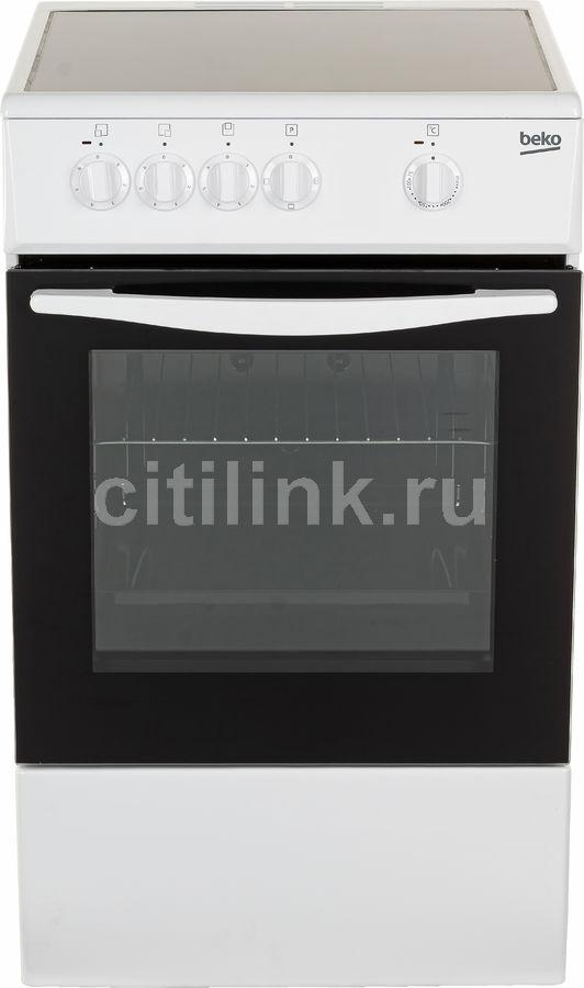 Электрическая плита BEKO FCS47002,  стеклокерамика,  белый