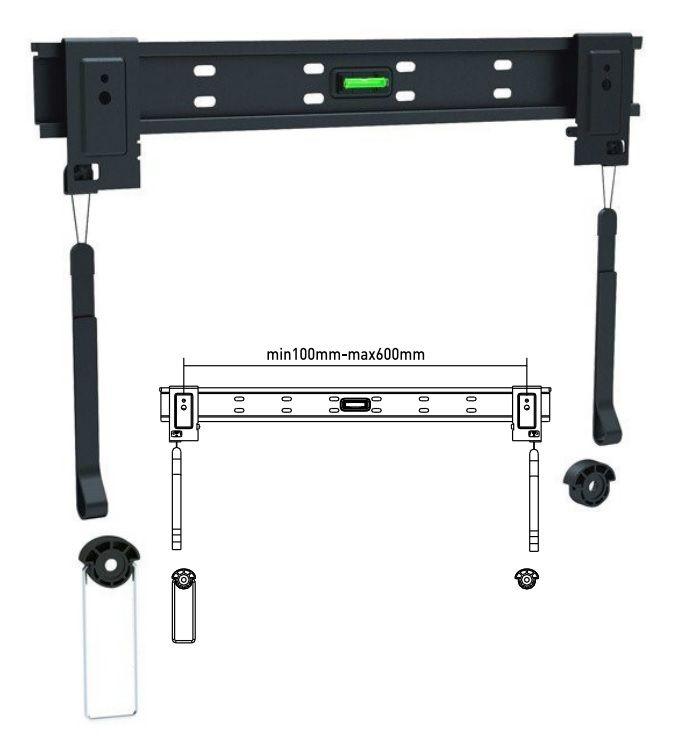 """Кронштейн для телевизора Ultramounts UM 304 черный 32""""-60"""" макс.50кг настенный фиксированный"""