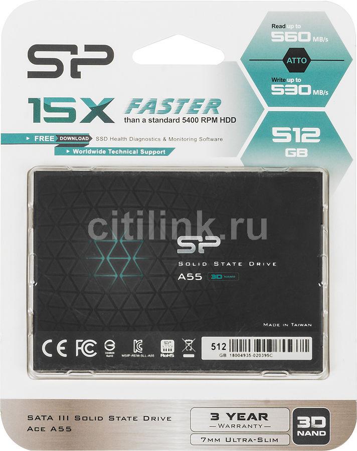 "SSD накопитель SILICON POWER Ace A55 SP512GBSS3A55S25 512Гб, 2.5"", SATA III"