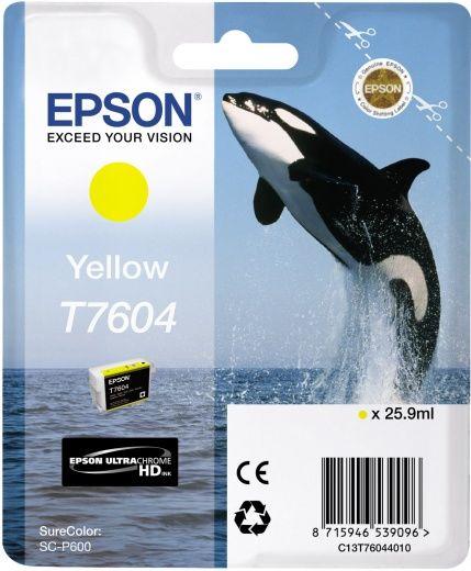 Картридж EPSON T7604, желтый [c13t76044010]