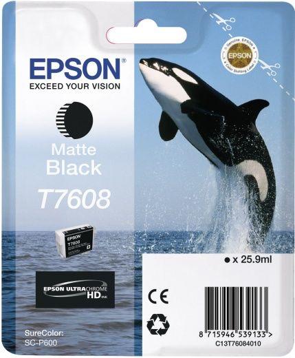 Картридж EPSON T7608, черный матовый [c13t76084010]