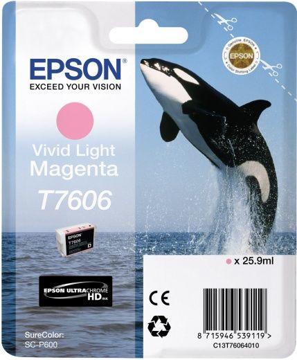 Картридж EPSON T7606, светло-пурпурный [c13t76064010]