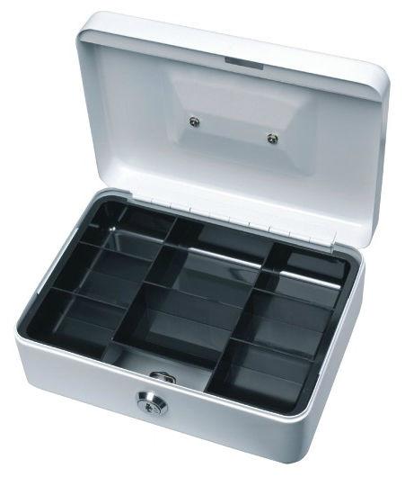 Ящик для купюр и печатей Alco 844-36 195х145х95мм серебристый сталь