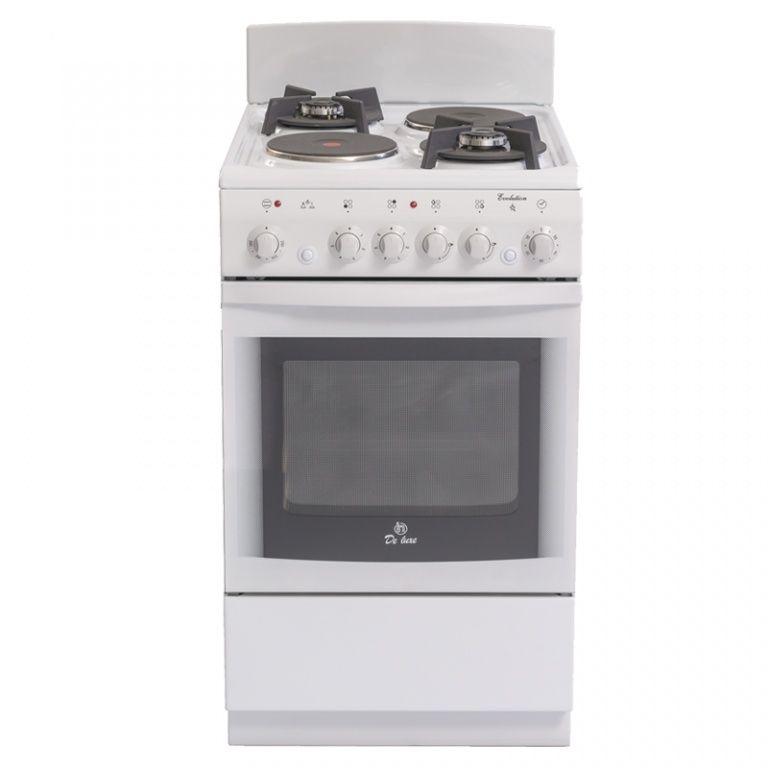 Газовая плита DE LUXE 506022.04гэ (щ),  электрическая духовка,  белый