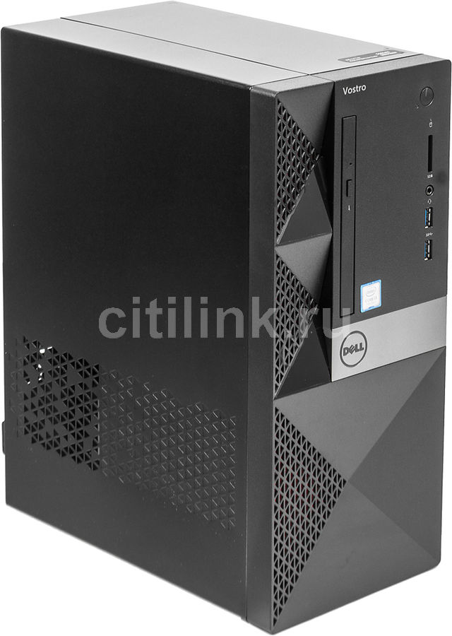 Компьютер DELL Vostro 3668, Intel Core i3 7100, DDR4 4Гб, 1000Гб, NVIDIA GeForce GT710 - 2048 Мб, DVD-RW, CR, Linux, черный [3668-1757] ноутбук hasee 14 intel i3 3110m dvd rw nvidia geforce gt 635m intel gma hd 4000 2 g k460n