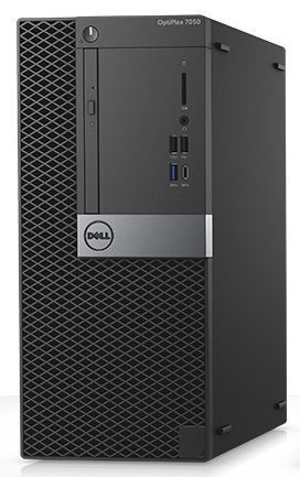 Компьютер DELL Optiplex 7050, Intel Core i7 7700, DDR4 16Гб, 1000Гб, Intel HD Graphics 630, DVD-RW, Windows 10 Professional, черный [7050-1825] компьютер dell optiplex 7050 intel core i5 6500 ddr4 8гб 256гб ssd intel hd graphics 530 dvd rw windows 10 professional черный и серебристый [7050 2585]