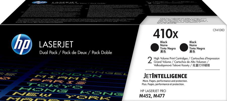 Картридж (двойная упаковка) HP 410X, черный [cf410xd]
