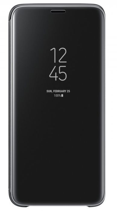 Чехол (флип-кейс) SAMSUNG Clear View Standing Cover, для Samsung Galaxy S9, черный [ef-zg960cbegru]