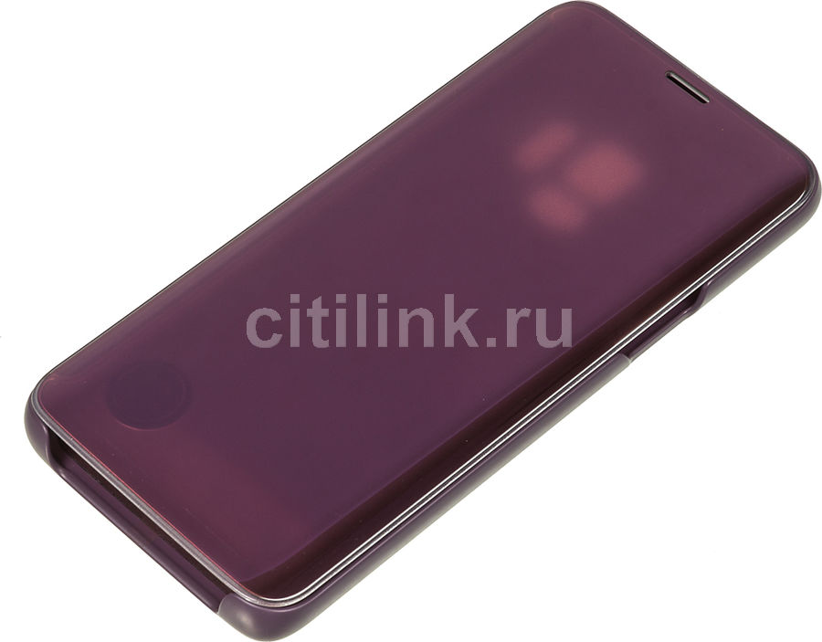 Чехол (флип-кейс) SAMSUNG Clear View Standing Cover, для Samsung Galaxy S9, фиолетовый [ef-zg960cvegru]