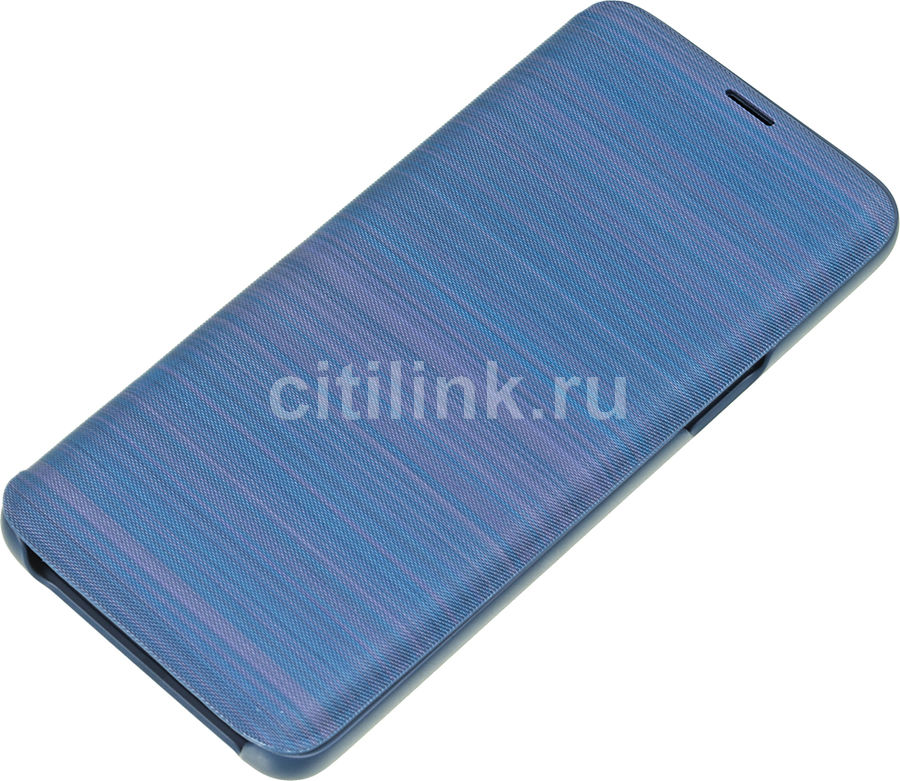 Чехол (флип-кейс) SAMSUNG LED View Cover, для Samsung Galaxy S9, синий [ef-ng960plegru] чехол для смартфона samsung galaxy s9 led view cover синий ef ng965plegru ef ng965plegru
