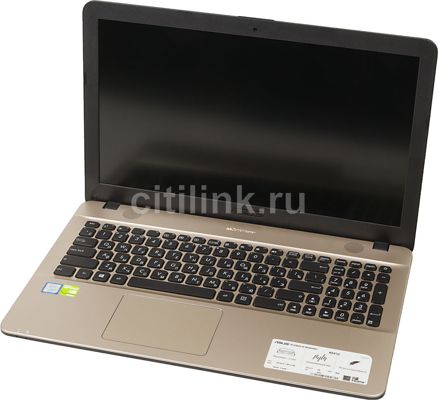Ноутбук ASUS K541UV-DM1297T, 15.6, Intel Core i3 7100U 2.4ГГц, 4Гб, 500Гб, nVidia GeForce 920MX - 2048 Мб, Windows 10, 90NB0CG1-M19000, черный ноутбук lenovo ideapad 320 15iskk 15 6 1920x1080 intel core i3 6006u 500 gb 4gb nvidia geforce gt 920mx 2048 мб черный windows 10 home 80xh00ktrk