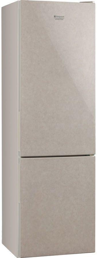 Холодильник HOTPOINT-ARISTON HF 4180 M,  двухкамерный, бежевый стекло